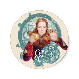 Alice   Curiouser and Curiouser Classic Round Sticker