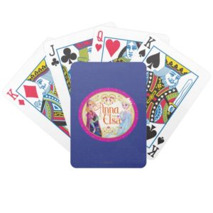 Anna and Elsa | Floral Frame Bicycle Playing Cards
