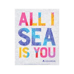 "Aquaman | ""All I Sea Is You"" Colorful Paisley Canvas Print"