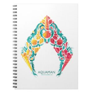 Aquaman | Aquaman & Mera Themed Seashell Logo Notebook