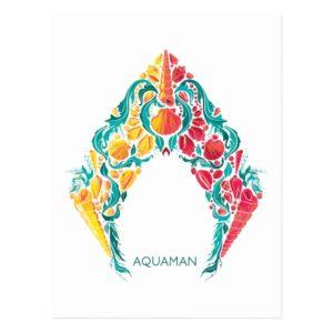 Aquaman | Aquaman & Mera Themed Seashell Logo Postcard
