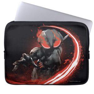 Aquaman   Black Manta Red Swipe Graphic Computer Sleeve