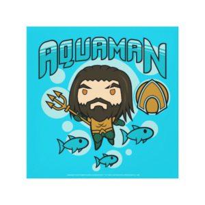 Aquaman | Chibi Aquaman Undersea Graphic Canvas Print