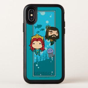 Aquaman   Chibi Mera & Aquaman Undersea Graphic OtterBox iPhone Case
