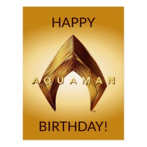 Aquaman | Golden Aquaman Logo Postcard