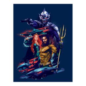 Aquaman   King Orm Versus Mera & Aquaman Postcard