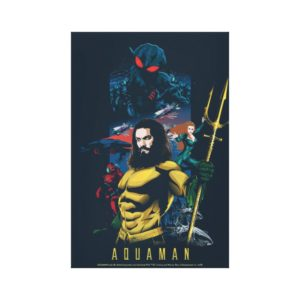 Aquaman | Orin, Mera, and Black Manta Graphic Canvas Print