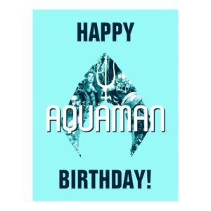 Aquaman | Orin, Mera, Orm & Black Manta In Symbol Postcard