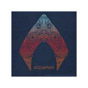 Aquaman | Paisley Aquaman Logo Canvas Print