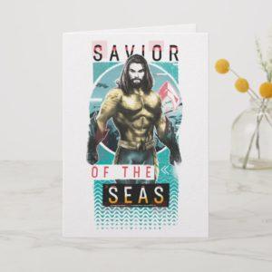 "Aquaman | ""Savior Of The Seas"" Modernist Graphic Card"
