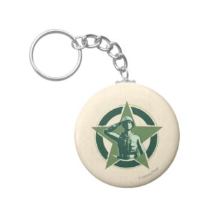 Army Sarge Salutes Keychain