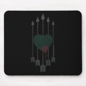 Arrow | Arrows Shot Through Heart Mouse Pad