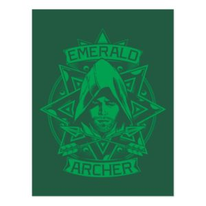 Arrow | Emerald Archer Graphic Postcard
