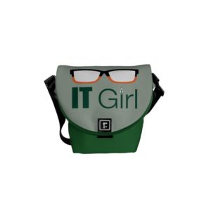 Arrow | IT Girl Glasses Graphic Courier Bag