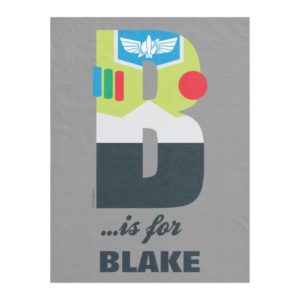 B is for Buzz   Add Your Name Fleece Blanket