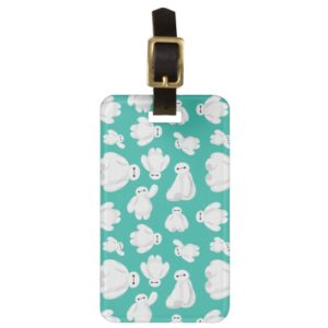 Baymax Green Classic Pattern Luggage Tag