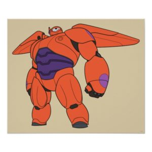 Baymax Orange Suit Poster