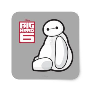 Baymax Sideways Sitting Square Sticker