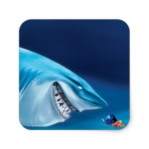 Bruce, Nemo and Dory 1 Square Sticker