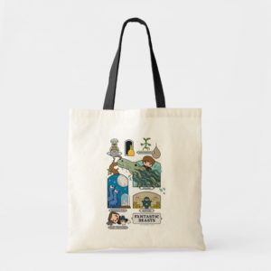 Cartoon Beasts In Habitats Tote Bag