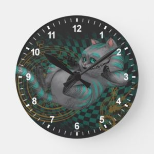 Cheshire Cat | Time's a Wastin' Round Clock