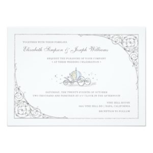 Cinderella Carriage   Fairytale Wedding Invitation