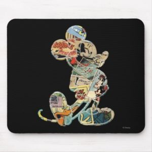 Classic Mickey | Comic Silhouette Mouse Pad
