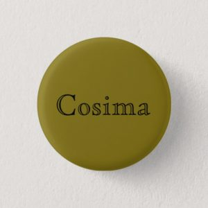 Cosima from Orphan Black open font text Button