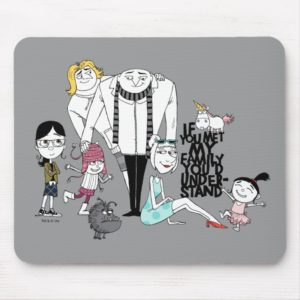 Despicable Me   If You Met My Family Mouse Pad