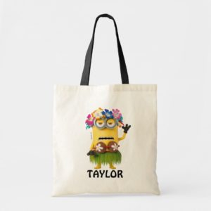 Despicable Me   Minion Kevin Luau - Add Your Name Tote Bag