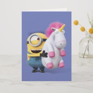 Despicable Me | Minion Stuart & Unicorn Card