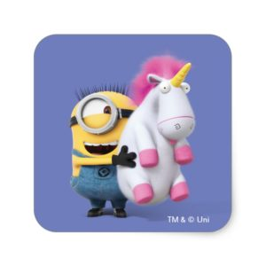 Despicable Me | Minion Stuart & Unicorn Square Sticker