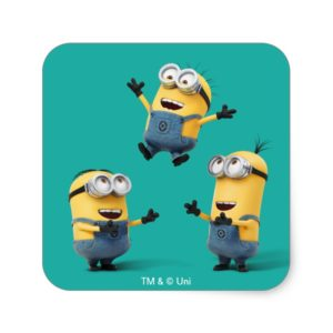 Despicable Me | Minions Jumping Square Sticker