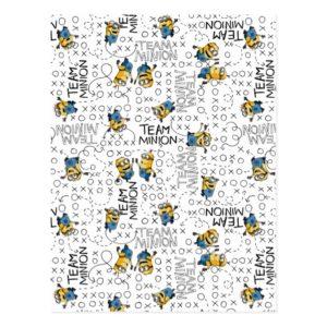 Despicable Me   Team Minion Pattern Postcard