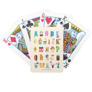 Disney Alphabet Mania Bicycle Playing Cards