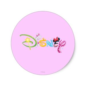 Disney Logo | Girl Characters Classic Round Sticker