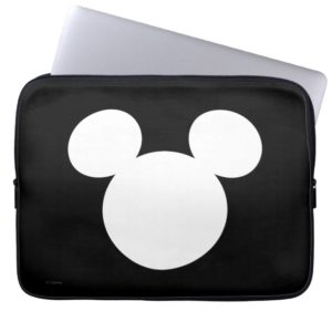 Disney Logo | White Mickey Icon Computer Sleeve