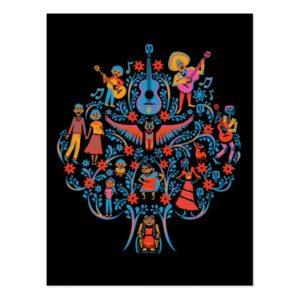 Disney Pixar Coco   Colorful Character Tree Postcard