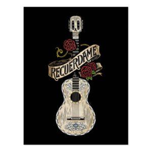 Disney Pixar Coco | Rustic Recuerdame Guitar Postcard