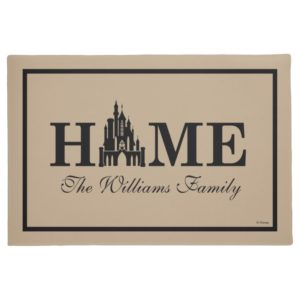Disney Princess Castle | Home with Family Name Doormat