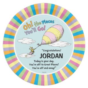 Dr. Seuss | Oh! The Places You'll Go! Paper Plate