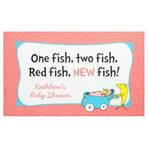 Dr. Seuss | One Fish - Girl Baby Shower Banner