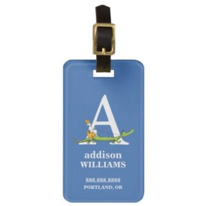 Dr. Seuss's ABC: Letter A - White | Add Your Name Bag Tag