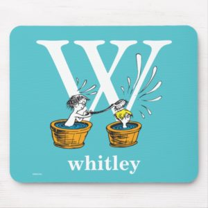 Dr. Seuss's ABC: Letter W - White | Add Your Name Mouse Pad