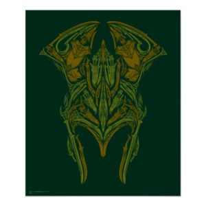 Elven Weapons Helmet Icon Poster