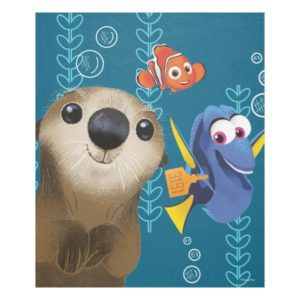 Finding Dory | Nemo, Dory & Otter Fleece Blanket