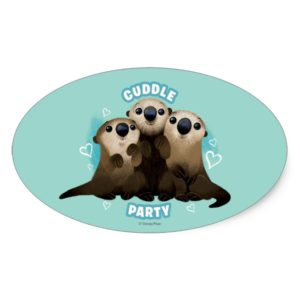 Finding Dory Otters | Cuddle Party Oval Sticker