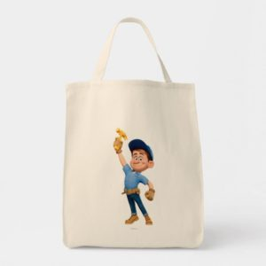 Fix-It Jr Holding Hammer in the Air Tote Bag
