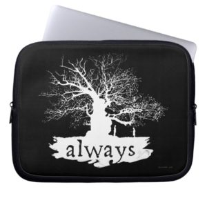 Harry Potter Spell | Always Quote Silhouette Computer Sleeve