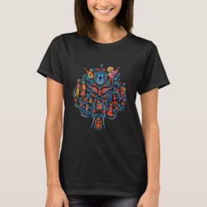 Disney Pixar Coco | Colorful Character Tree T-Shirt